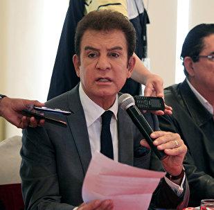 Salvador Nasralla, el excandidato presidencial hondureño por la Alianza de Oposición (archivo)