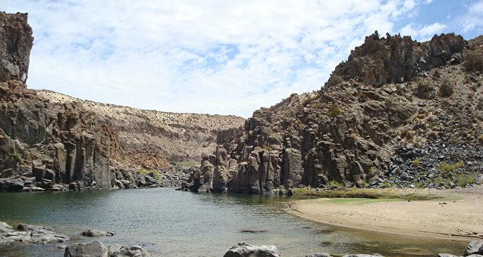 El Saltillo en Cushamen, en la provincia patagónica de Chubut, Argentina.