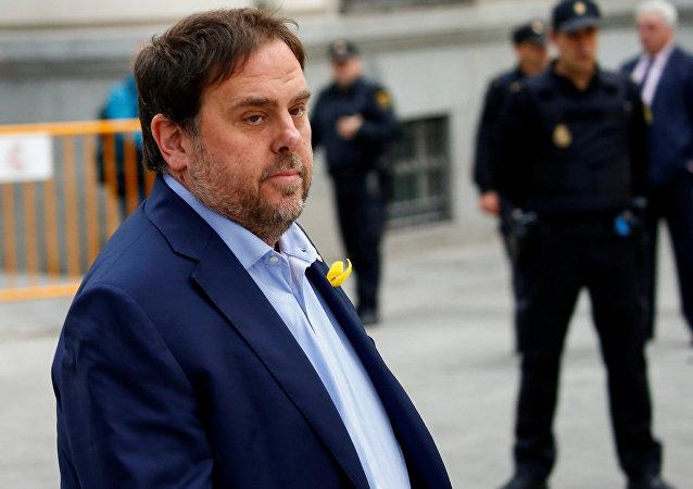 Oriol Junqueras, el exvicepresidente catalán