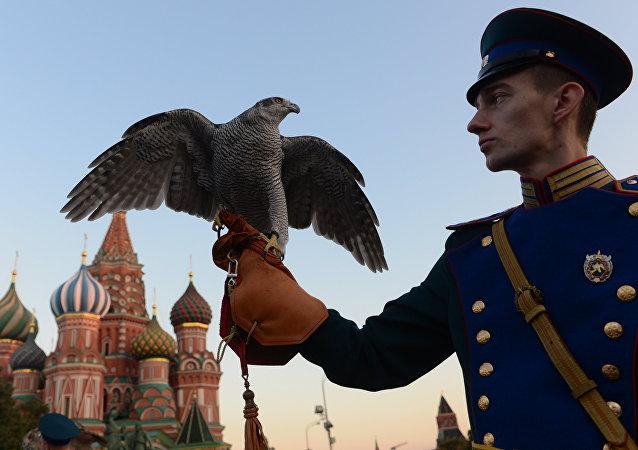 El servicio ornitológico del Kremlin de Moscú