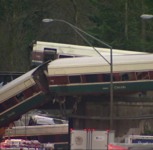 Consecuencias de la caída de un tren desde un puente en EEUU (vídeo)