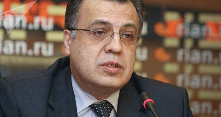 Andréi Kárlov, embajador de Rusia en Turquía (archivo)