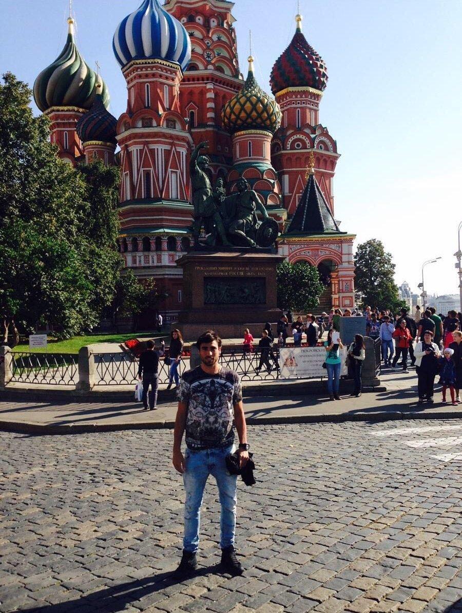 Facundo Piriz cuando jugaba para el Terek Grozny de Chechnya