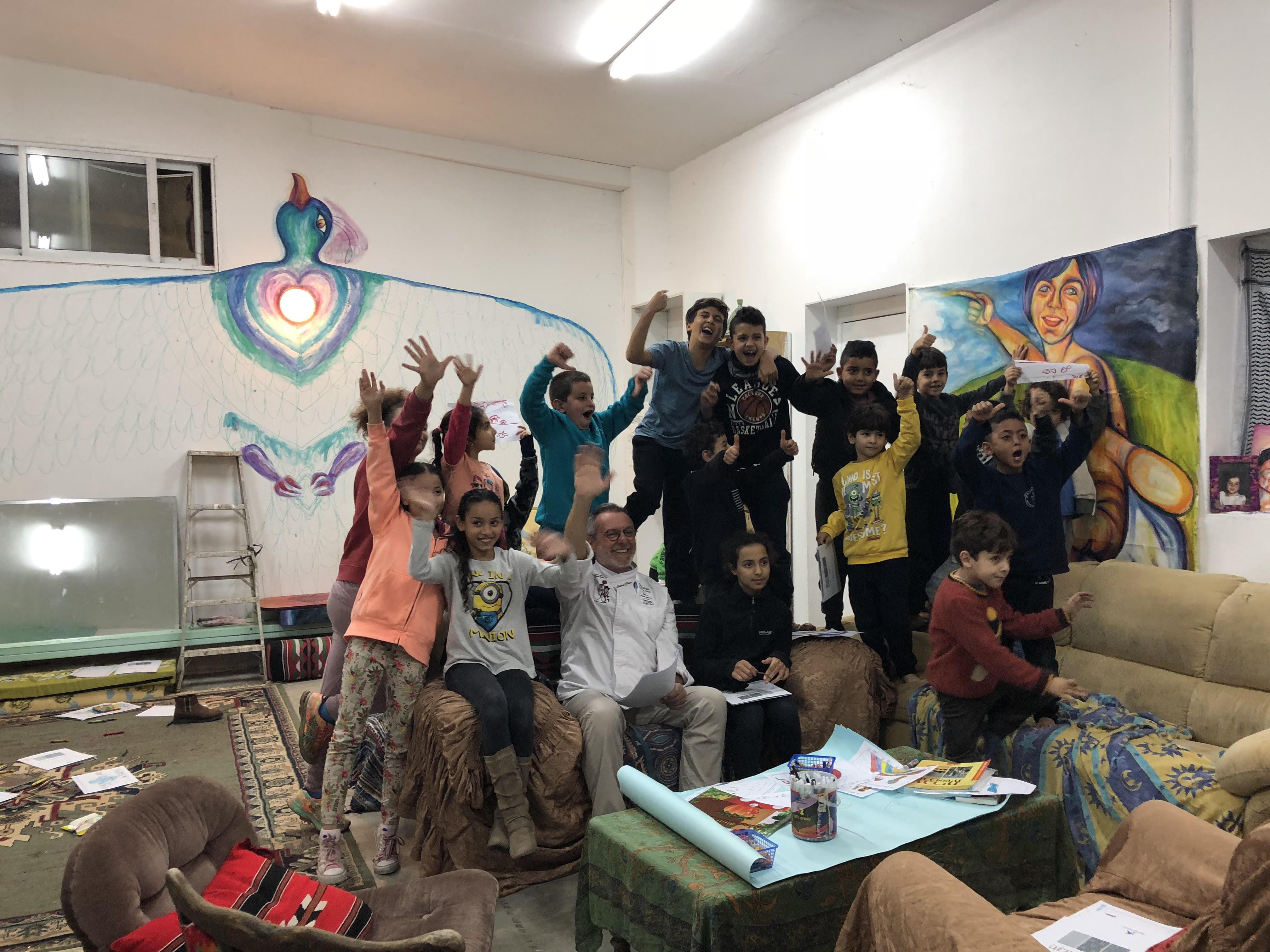 Niños de la aldea Wahat al-Salam Neve Shalom, donde conviven en paz judíos y musulmanes de Israel