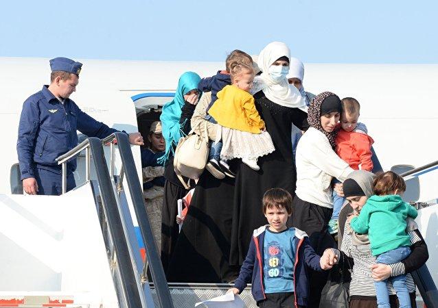Niños evacuados desde Siria vuelven a Rusia