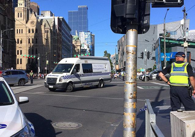 Policía en Melbourne, Australia