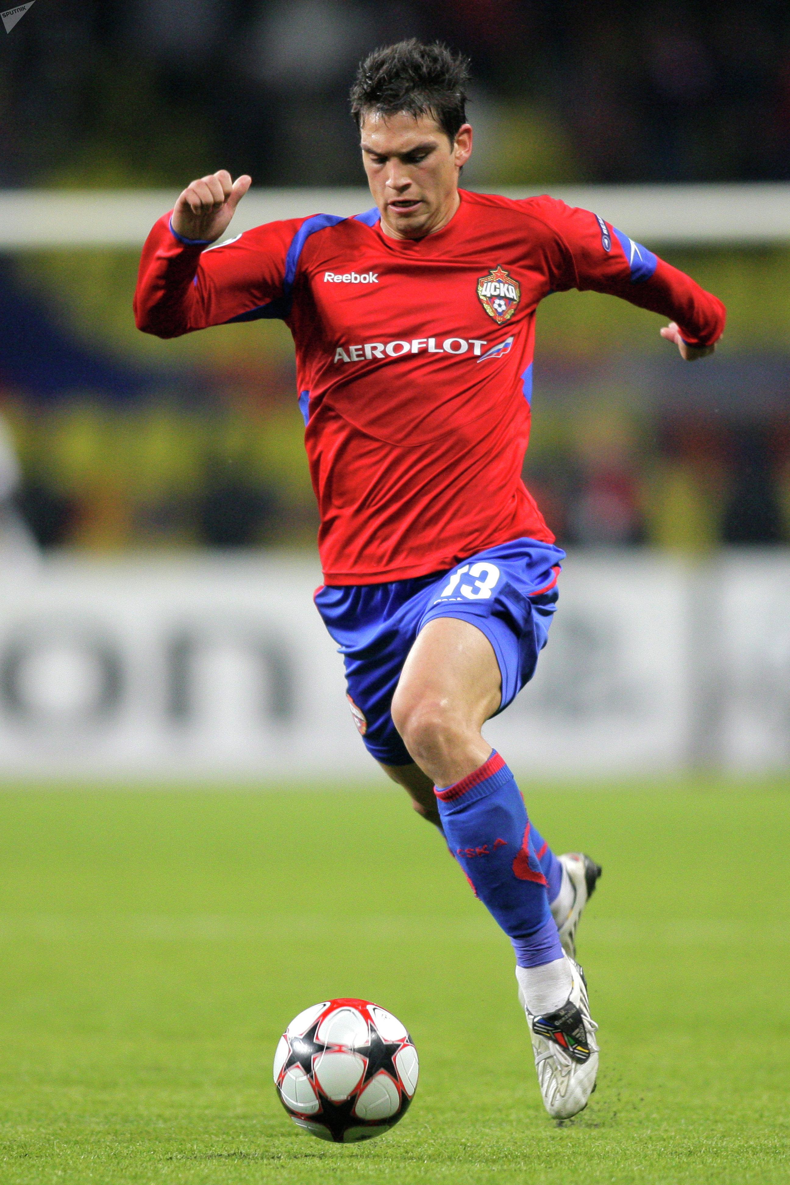 Mark González juega un partido con el PFC CSKA de Moscú contra el Beşiktaş Istanbul de Turquía en 2009