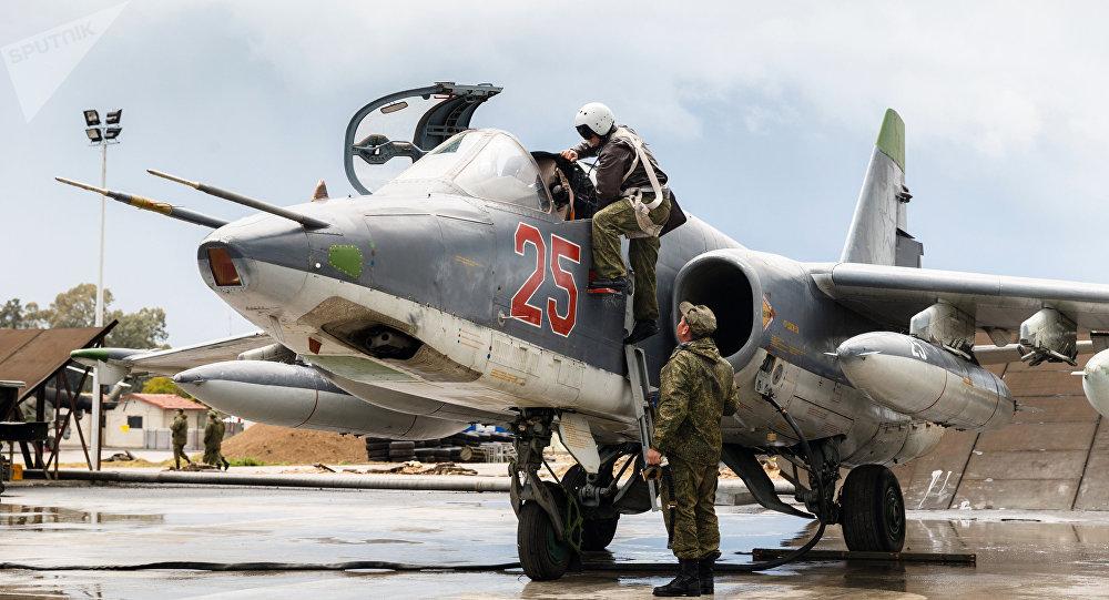 Aviación rusa en la base de Hmeymim en Siria