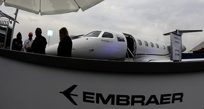 Logo de Embraer (imagen referencial)