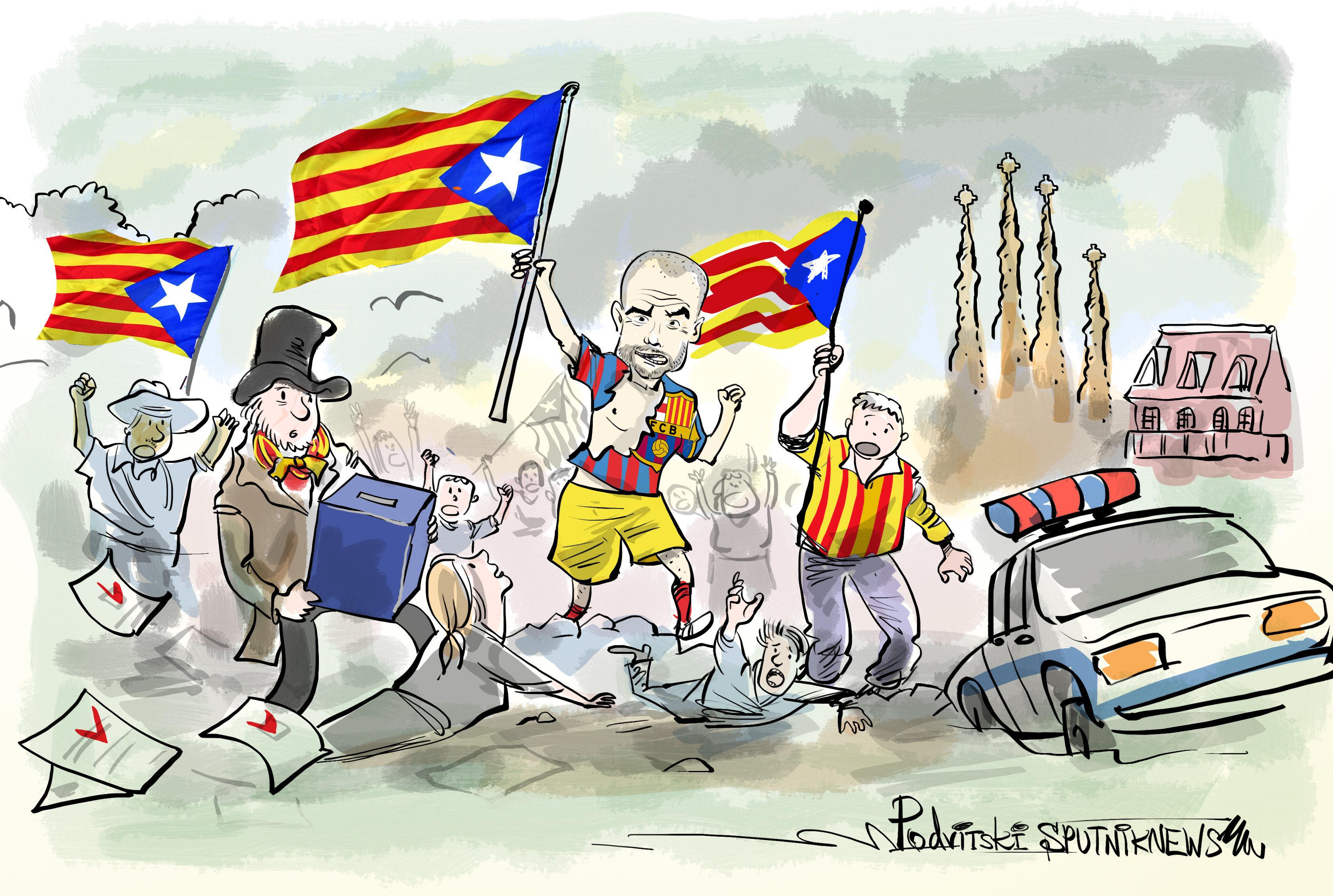 Pep Guardiola guiando a los independentistas