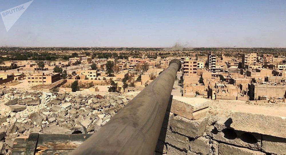 Un cañón en Siria (archivo)