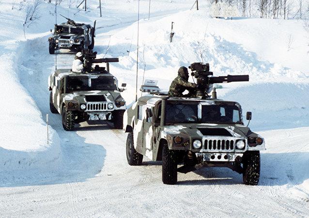 Cuerpo de Infantería de Marina de EEUU en Noruega (archivo)