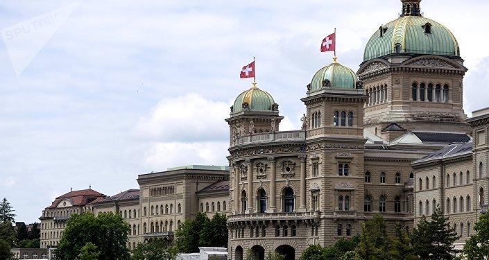 Palacio del Parlamento en Berna, Suiza