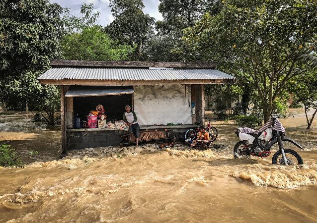 Tifón Timbin en Filipinas (archivo)