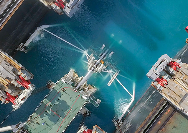 La construcción del tramo marítimo del gasoducto Turk Stream