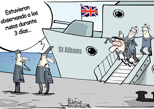 La fragata británica St. Albans escoltó al buque de guerra ruso Almirante Gorshkov cuando este navegaba cerca de las aguas territoriales británicas