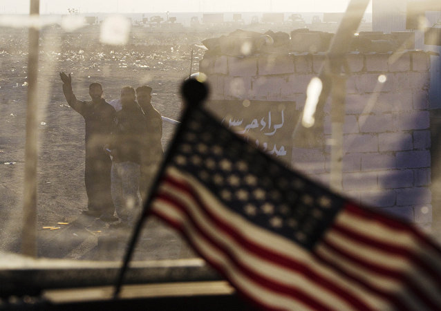 La bandera de EEUU en Irak (archivo)