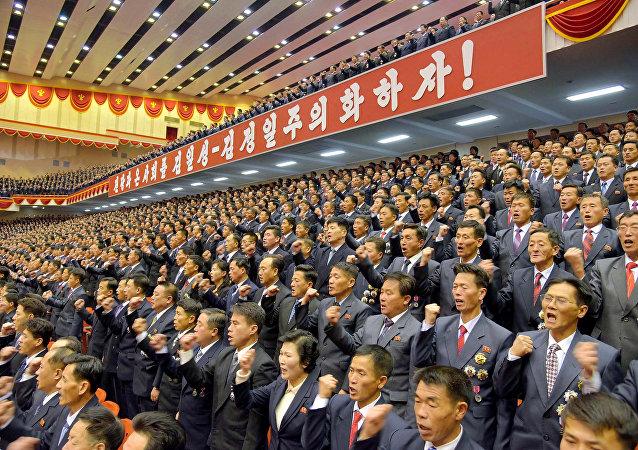 Los miembros del Partido del Trabajo de Corea del Norte (imagen referencial)