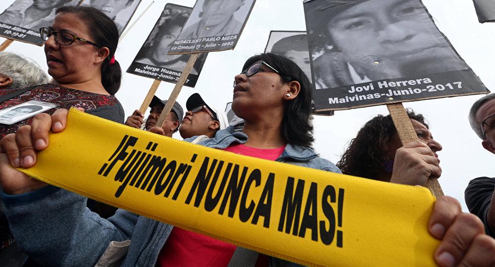 Retratos de las víctimas de Fujimori