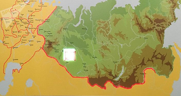 El mapa de Rusia a inicios del siglo XVIII. Todo el territorio en verde, desde Siberia hasta el océano Pacífico, fue asignado a una sola provincia, gestionada por un solo gobernador