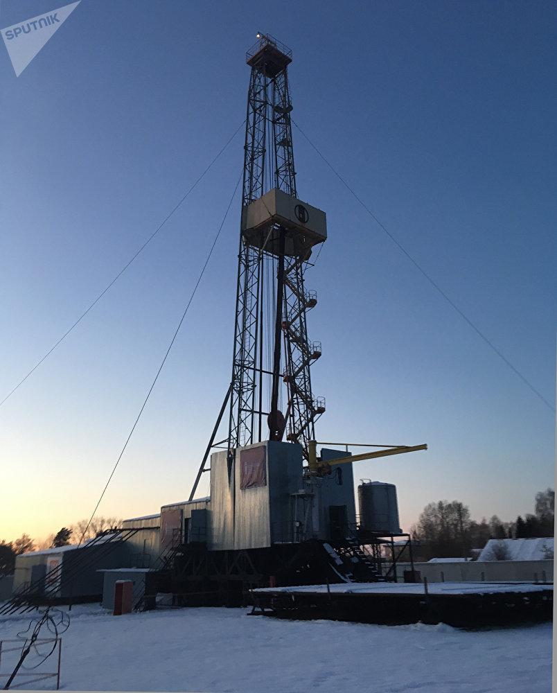 La instalación de perforación en las afueras de Tiumén. Está plenamente operativa y se usa en el proceso de formación de los ingenieros petroleros