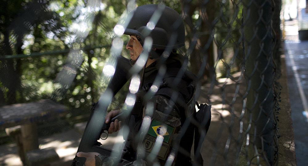 Policía militar brasileña en Río de Janeiro (archivo)