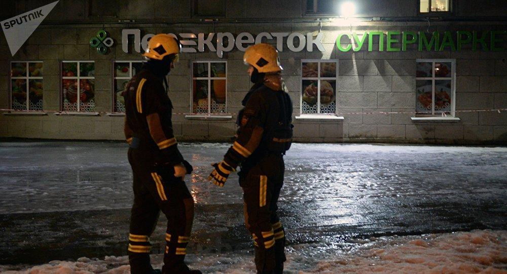 Explosión en un supermercado en San Petersburgo