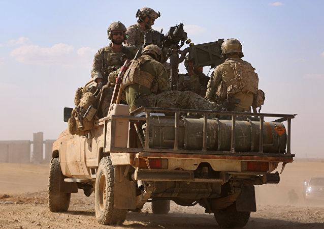 Militares estadounidenses en Siria