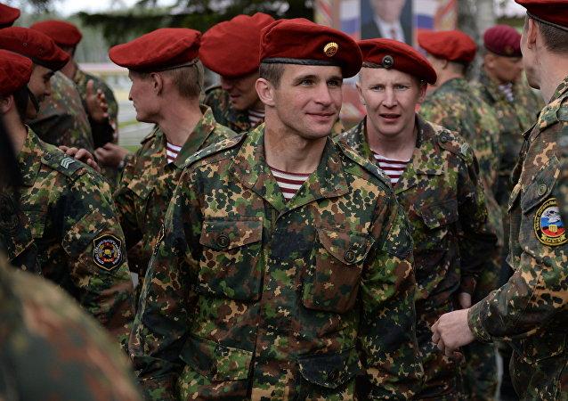 Las boinas rojas del Ministerio del Interior de Rusia, foto de archivo