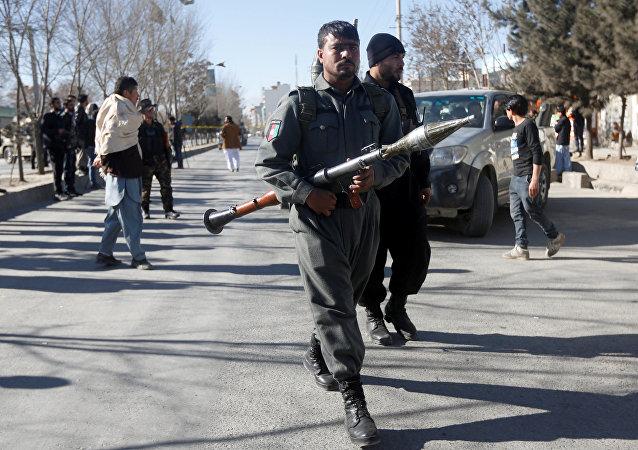 La policía afgana
