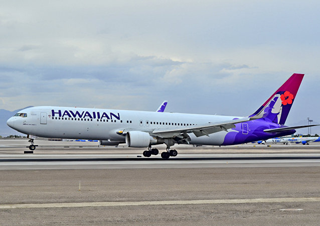 Un avión de Hawaiian Airlines