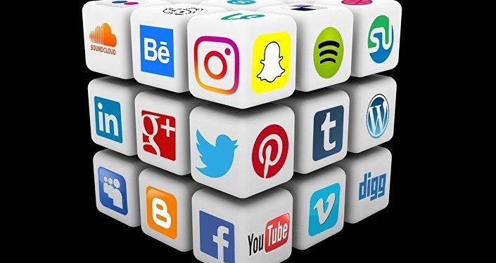 Logos de diferentes redes sociales