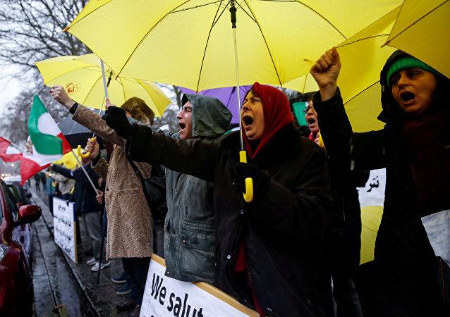 Las protestas contra el Gobierno iraní en Londres