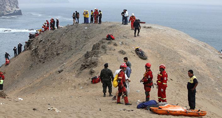 Caída de un autobús al abismo en Perú