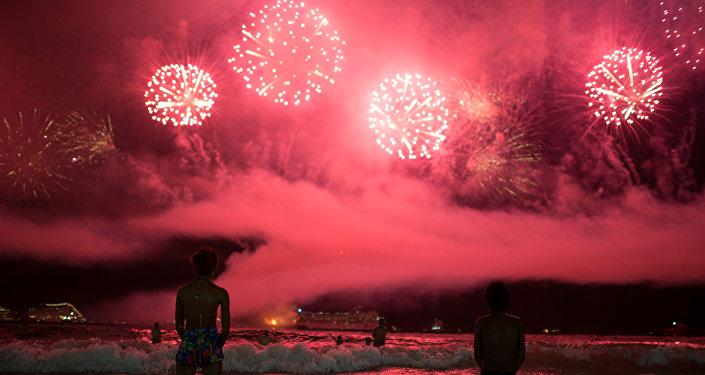 Fiesta de fin de año en Río de Janeiro, Brasil