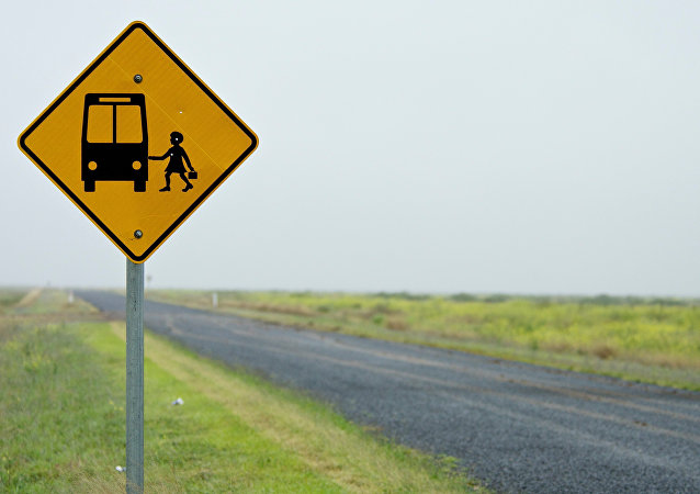 Señal de una parada de autobús