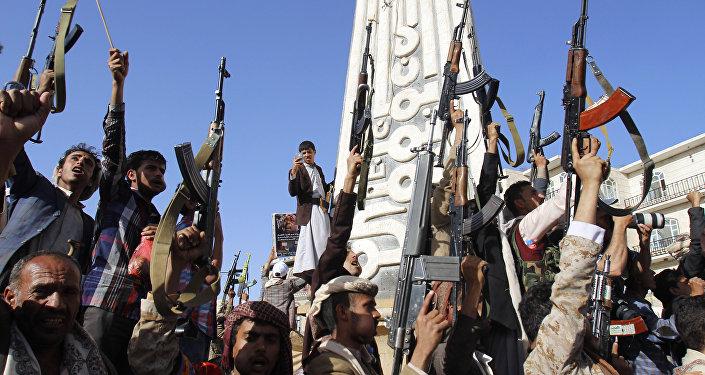 Hutíes en Yemen (archivo)