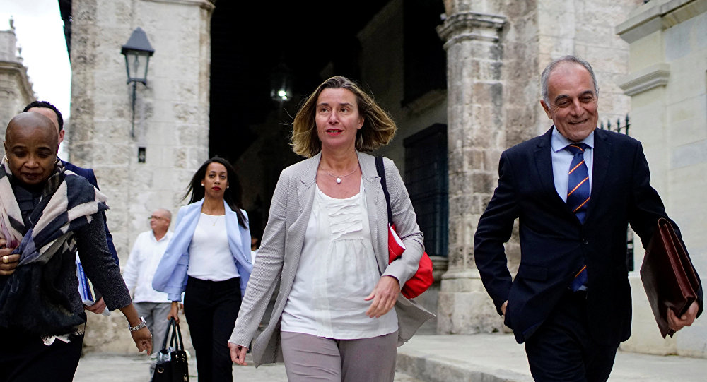 Federica Mogherini, la alta representante de la Unión Europea (UE) para Asuntos Exteriores y Política de Seguridad
