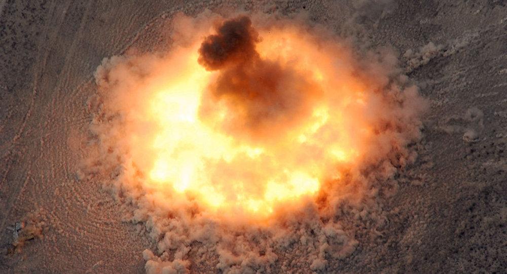Explosión de la bomba BLU-82/B (archivo)