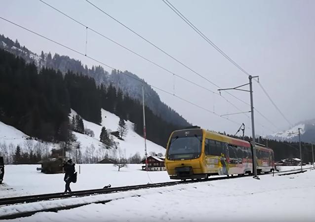 El descarrilamiento de un tren en Suiza