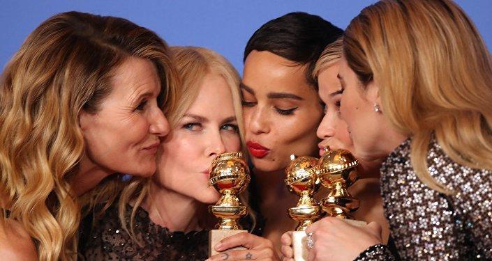 Las actrices Laura Dern, Nicole Kidman, Zoe Kravitz, Reese Witherspoon y Shailene Woodley