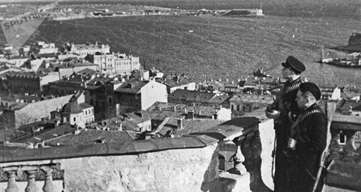 Sebastopol tras la retirada de las tropas alemanas