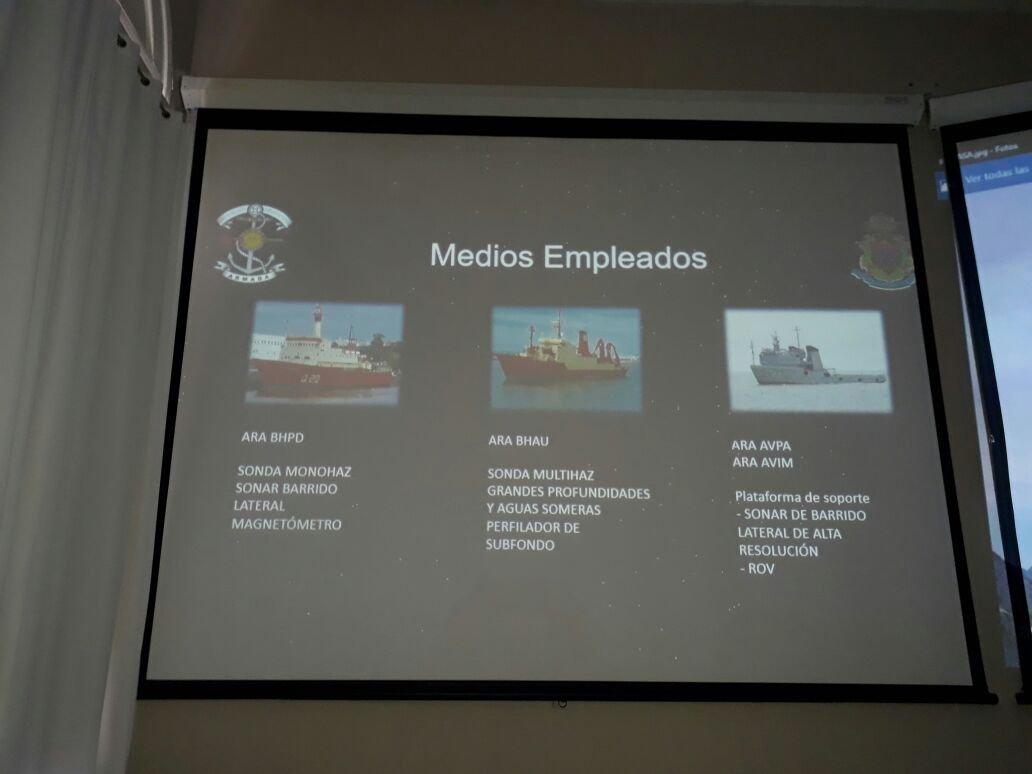 La presentación que hizo la Armada a los familiares de tripulantes de submarino
