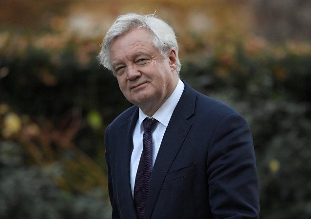 David Davis, el ministro británico del Brexit (archivo)