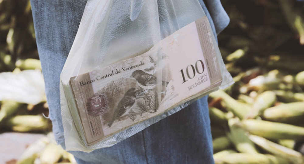Billetes de bolívares venezolanos