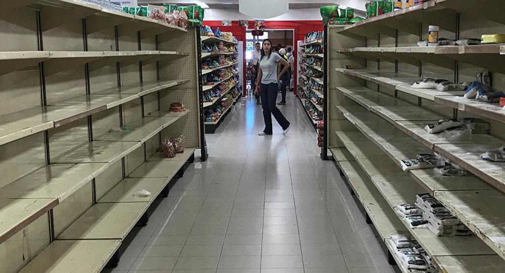 Un supermercado vacío en Venezuela