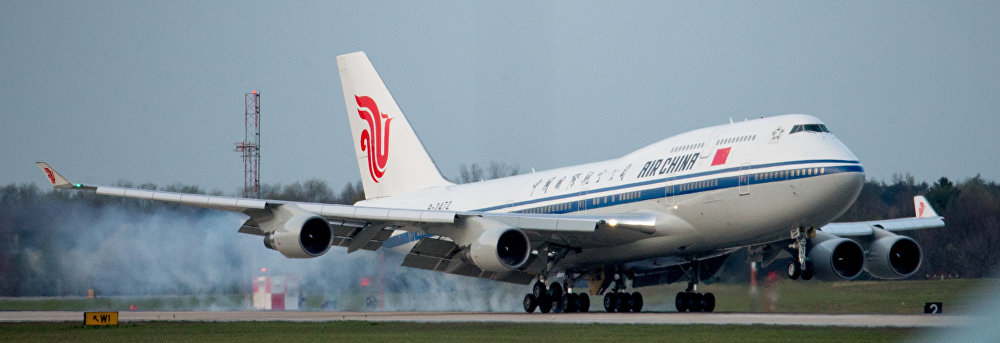 Un avión de Air China utilizado para transportar al presidente chino, Xi Jinping