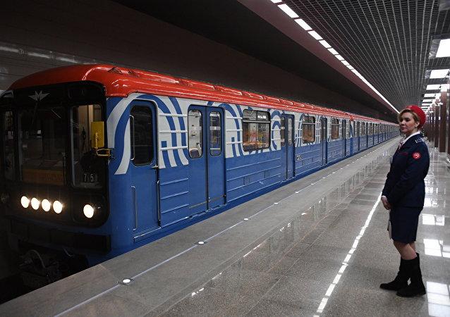 Un tren del metro de Moscú (imagen referencial)