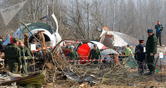 Accidente aéreo cerca de Smolensk (Archivo)