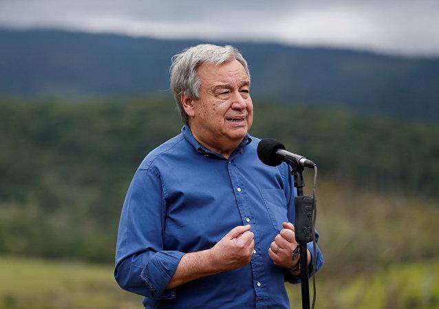 António Guterres, secretario General de la Organización de Naciones Unidas